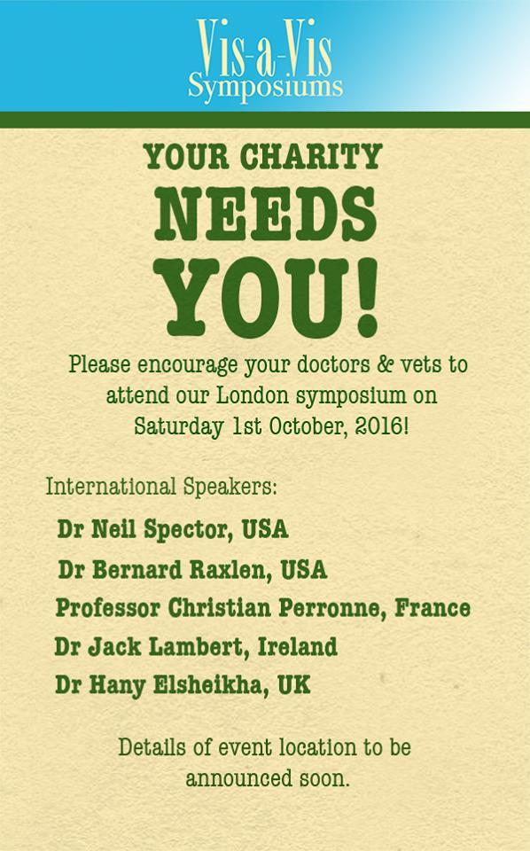 Vis-a-Vis Symposiums event, October 2016 - Lyme Disease UK