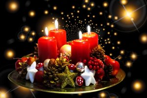 Stock image of Christmas candles