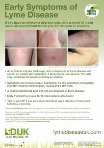 Awareness Poster - Early Symptoms Image
